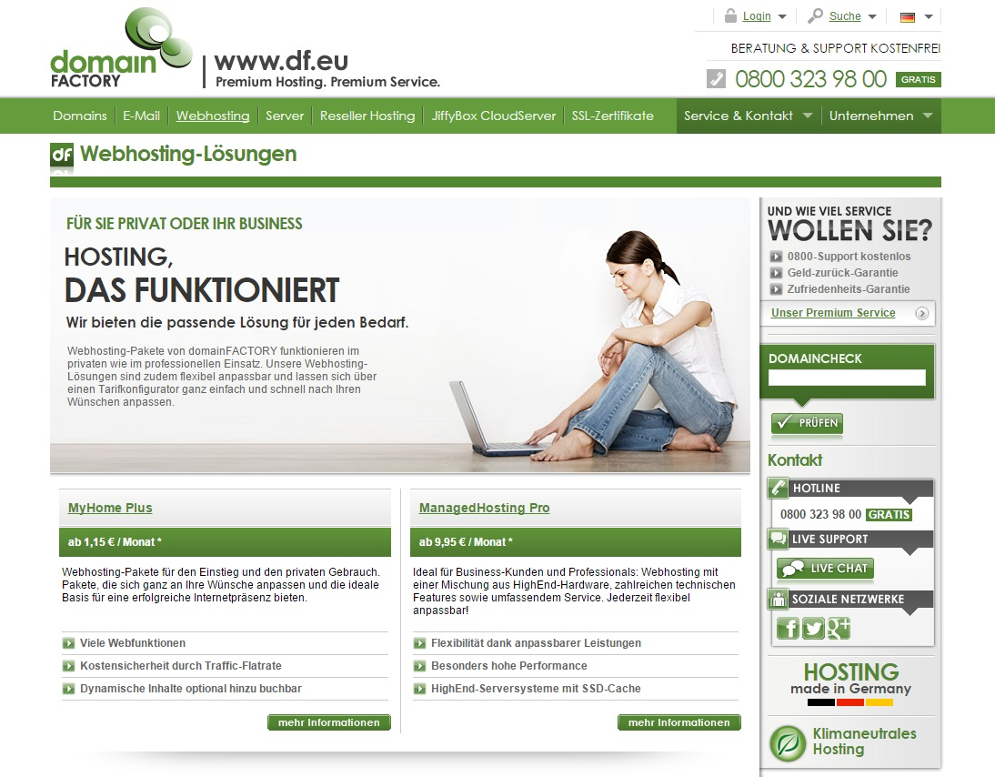 Domainfactory-Webhosting