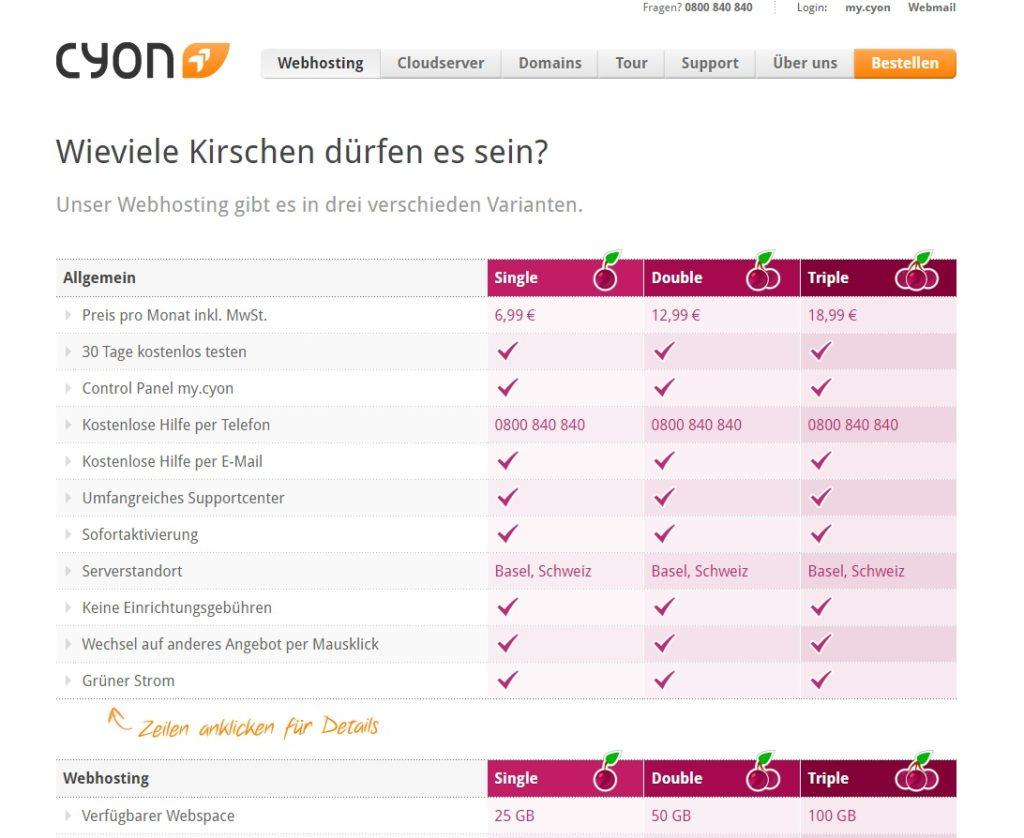 cyon-webhosting