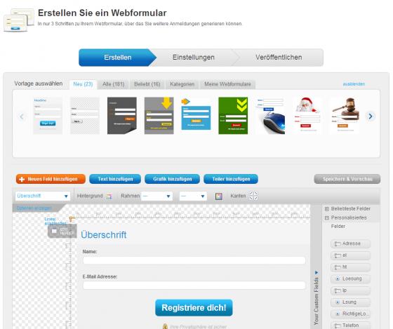GetResponse-Webformular-erstellen