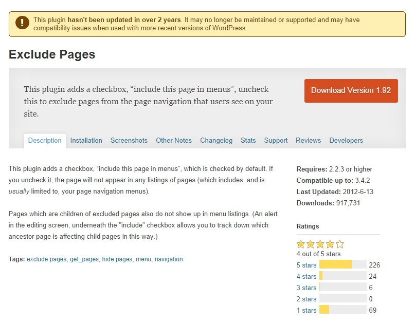 exclude-pages-from-navigation-wpplugin-infoseite