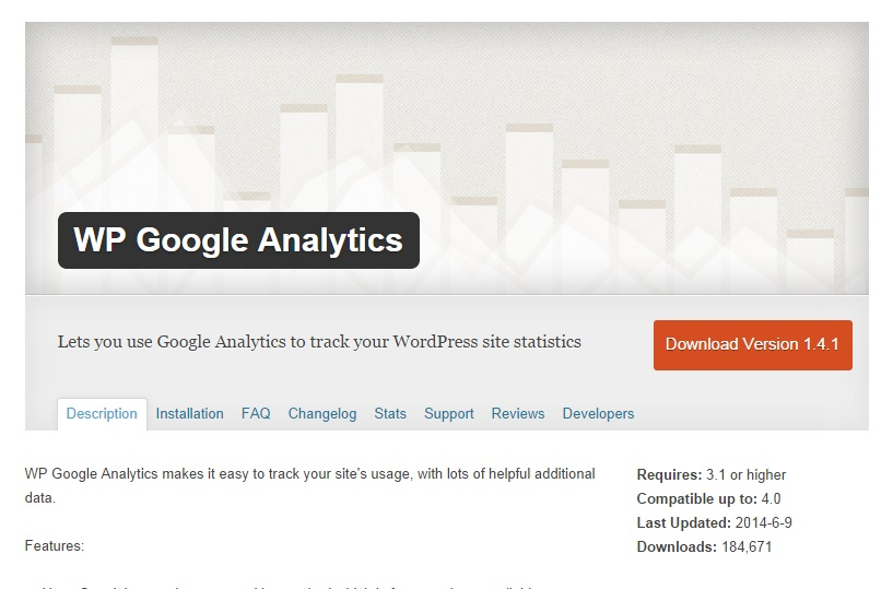 wp-google-analytics-infoseite