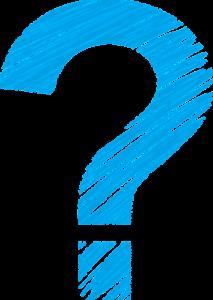 Fragezeichen-blau