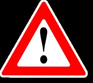 Warnung-Verkehrsschild