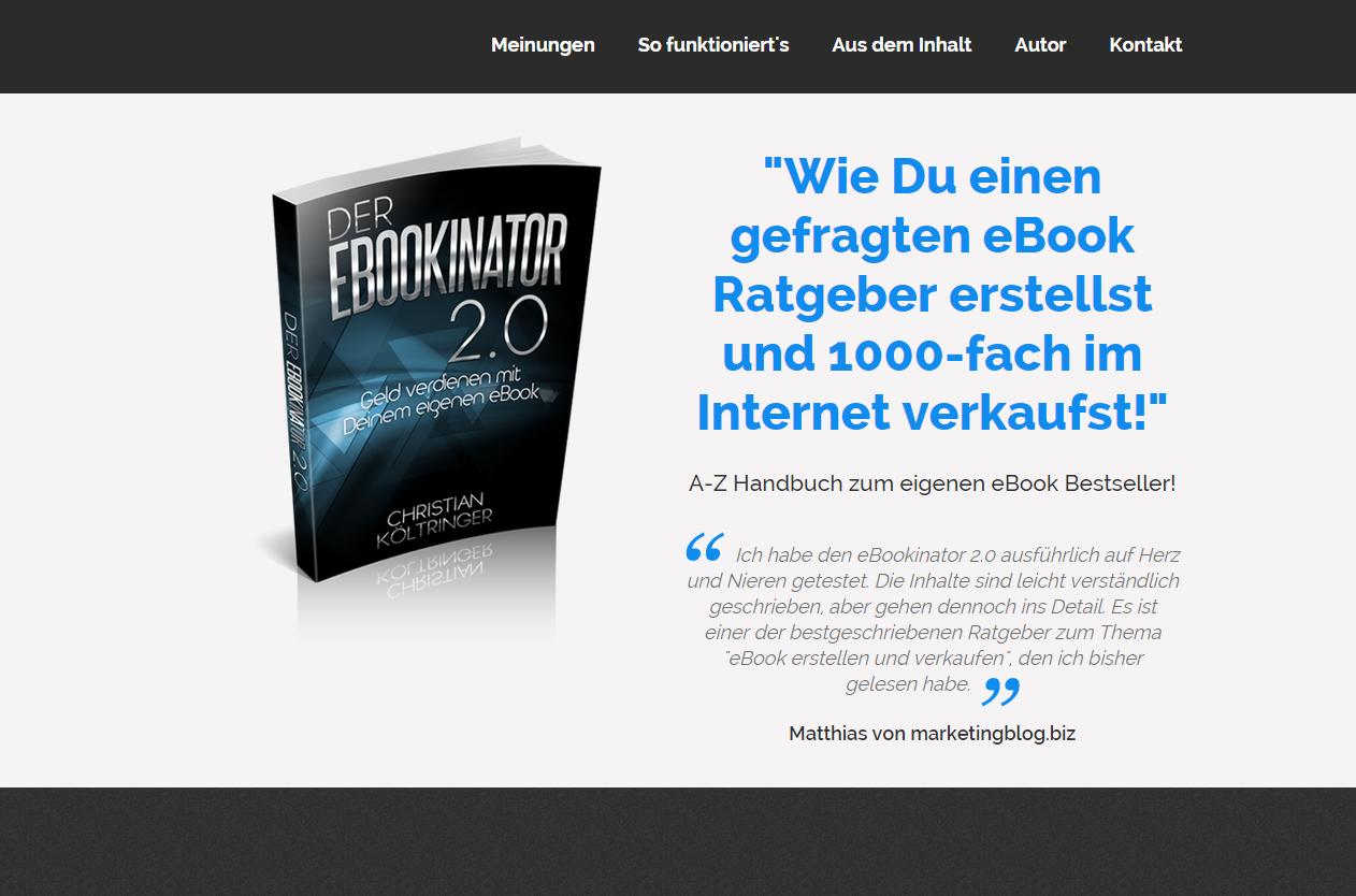 eBookinator 2.0 – Experten-Review zum eBook von Christian Költringer