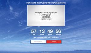wp-wartungsmodus-demoseite