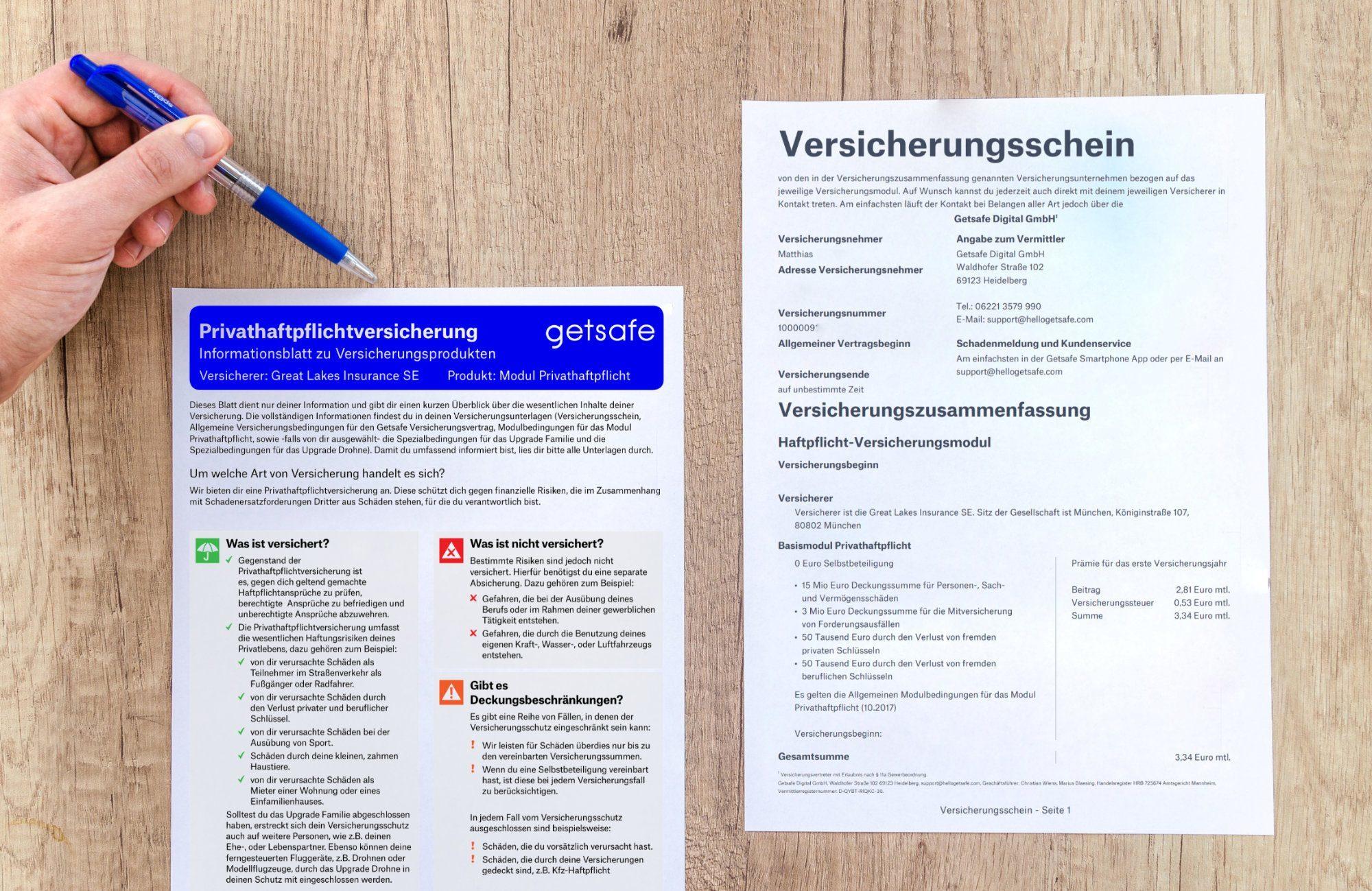 Getsafe Privat Haftpflicht Versicherung Erfahrungen Marketingblog Biz