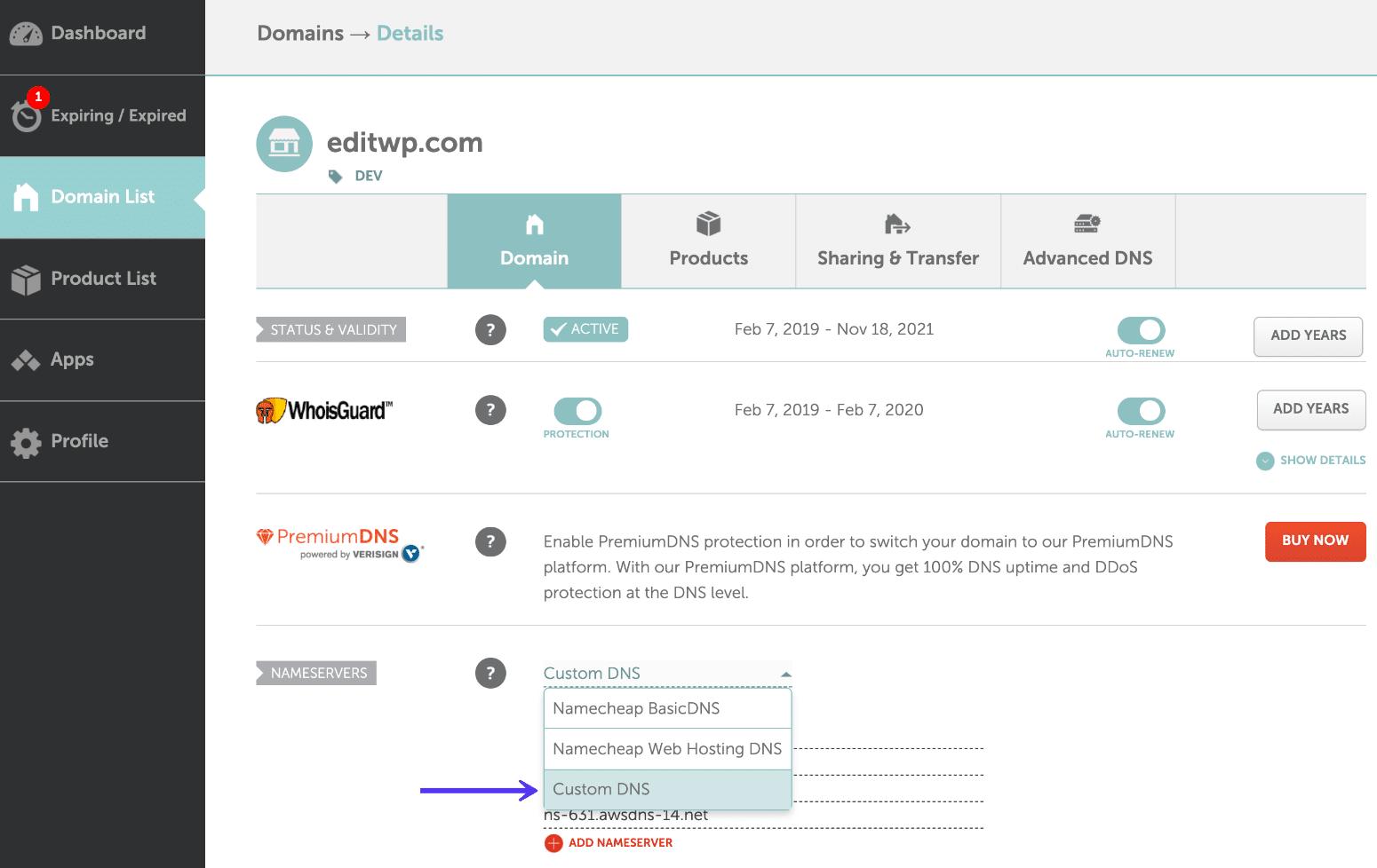 Kinsta: Domain mit Webhosting verbinden - Schritt 5