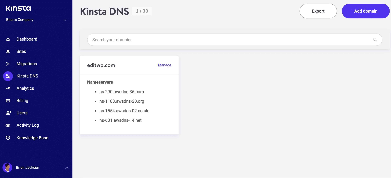 Kinsta: Domain mit Webhosting verbinden - Schritt 6