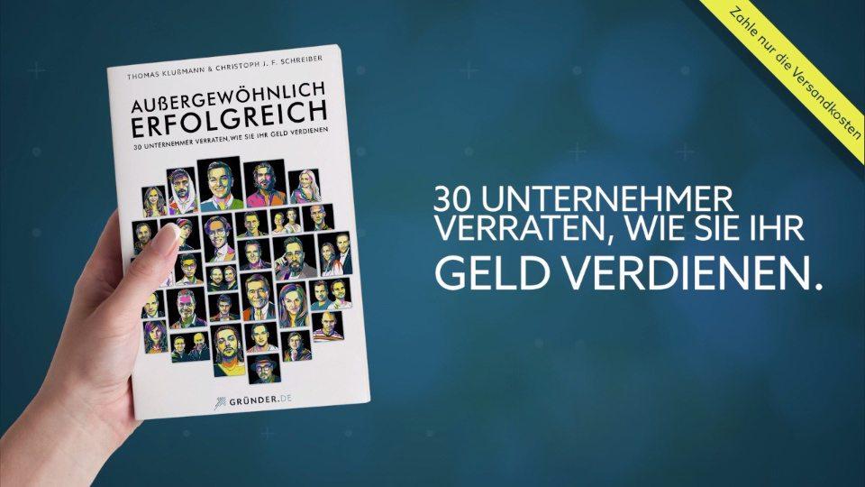 Außergewöhnlich Erfolgreich - Buchcover mit Headlines zur Informationen