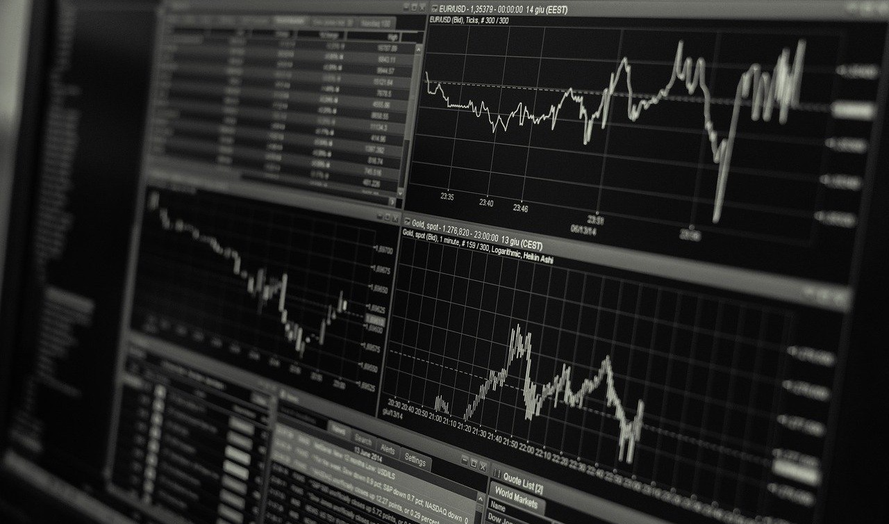 Börsenhandel, Monitoring, Computerscreen