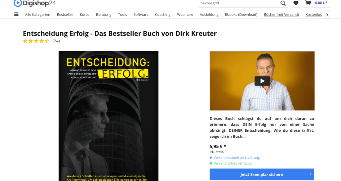 Entscheidung Erfolg, Webseite von Digishop24.de