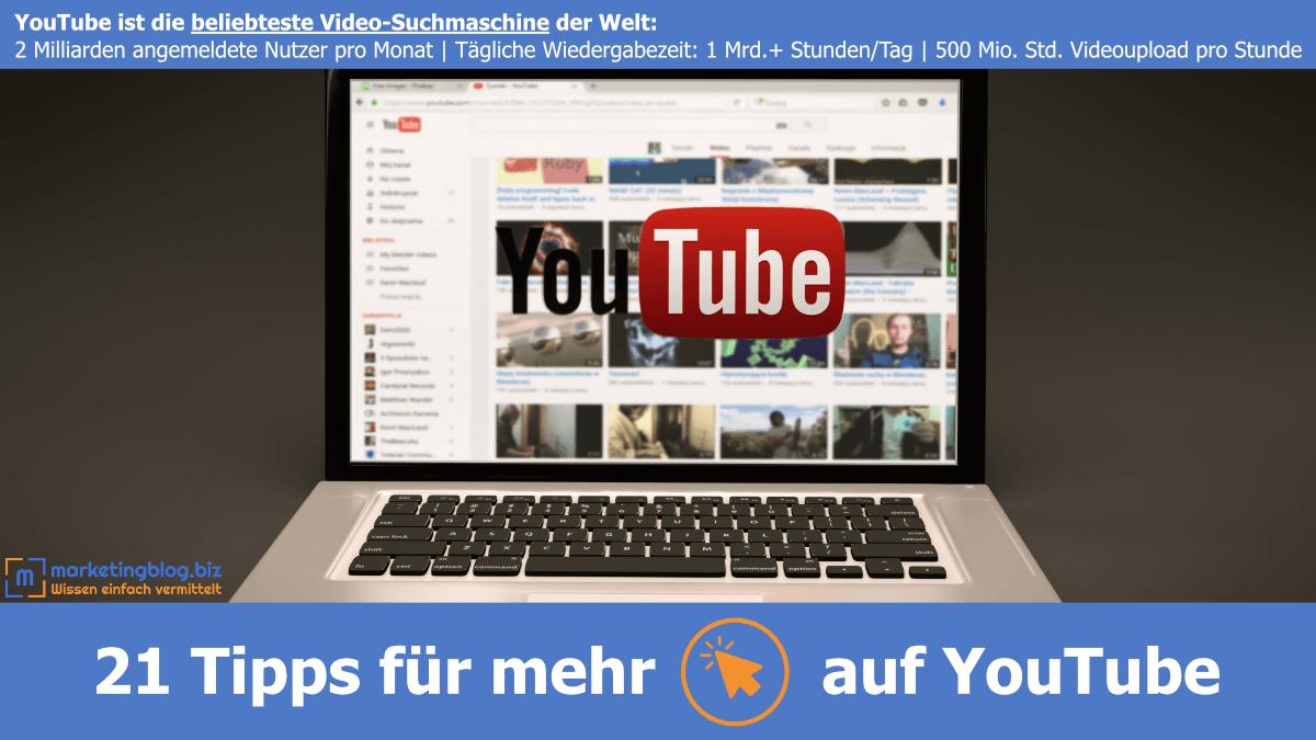 Mehr Klicks auf YouTube, Beitrag mit 24 Tipps