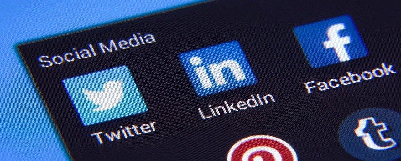 Social Media App, Übersicht auf Smartphone