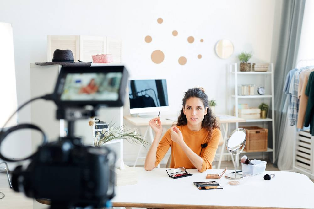 Beauty Videoblogger, Videodreh für YouTube