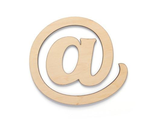 E-Mail Icon aus Holz